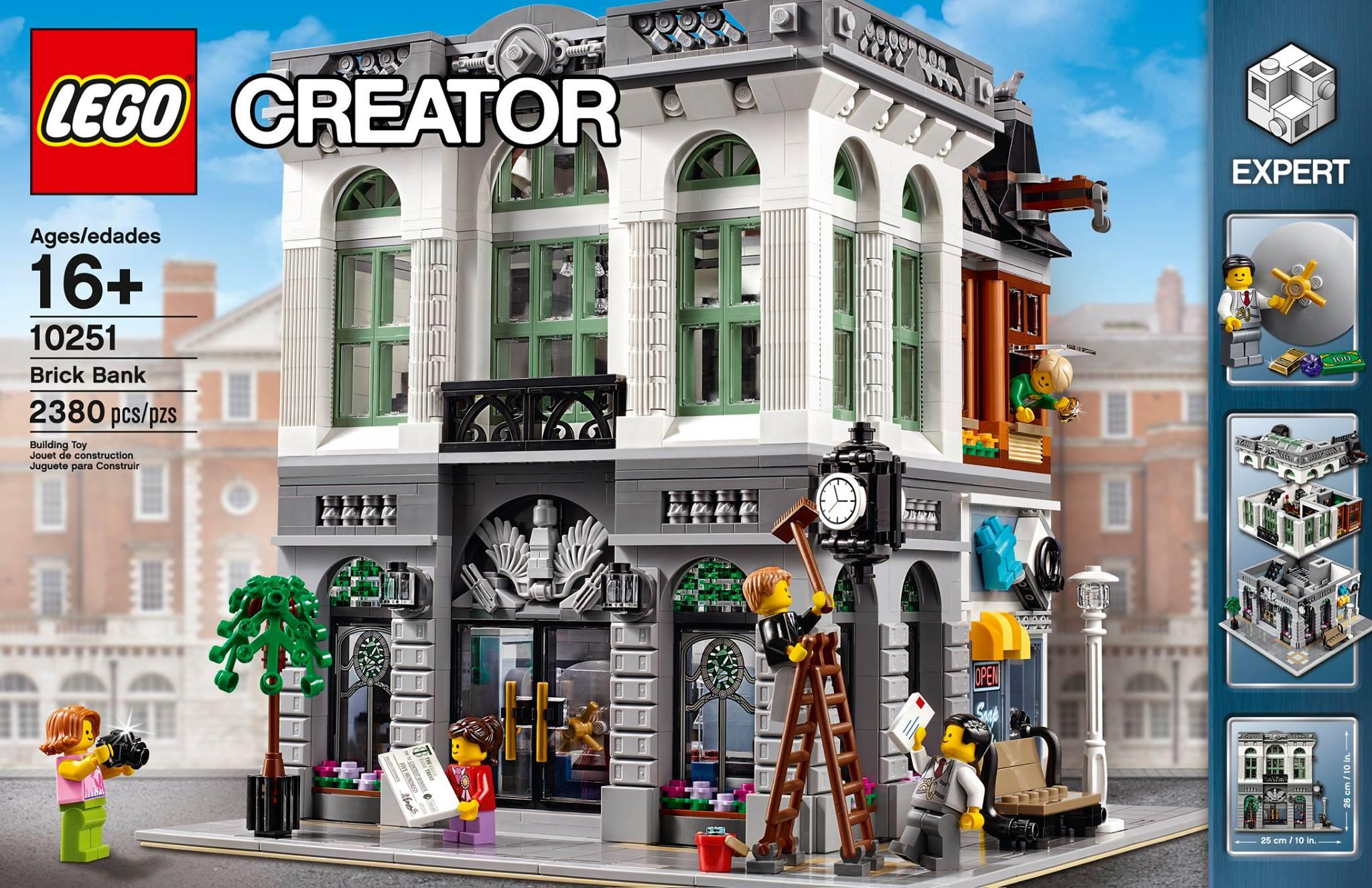 lego brick bank 10251 modular building up for order bricks and bloks. Black Bedroom Furniture Sets. Home Design Ideas