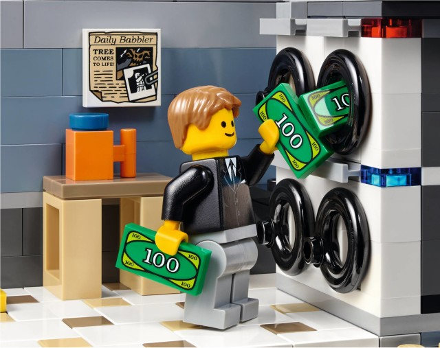 LEGO Bank Modular Building Laundromat with Money Laundering