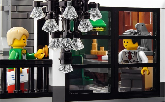 LEGO Brick Bank Bank Manager Office and Chandelier