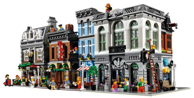LEGO Modular Buildings on Street Together with Brick Bank