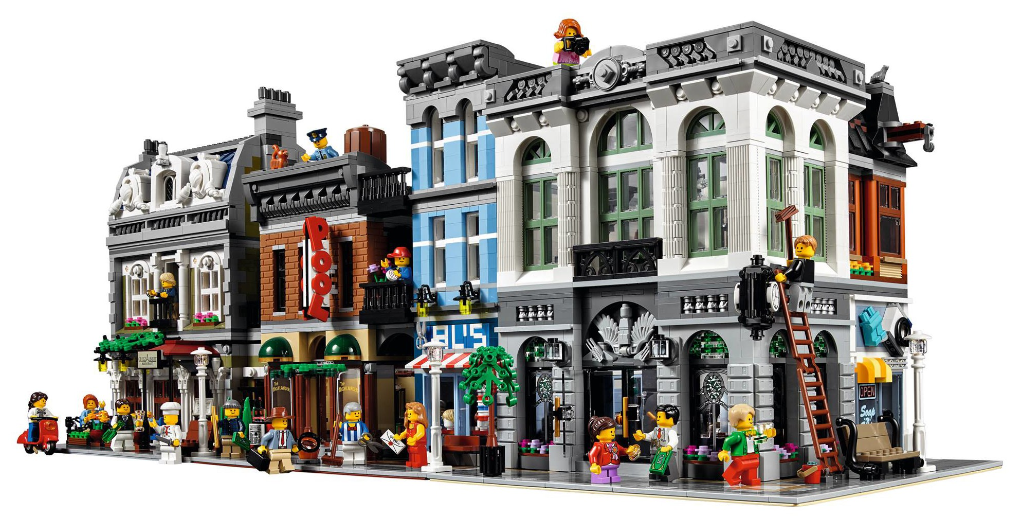 Lego brick bank 10251 modular building 2016 set revealed for Case modulari strette