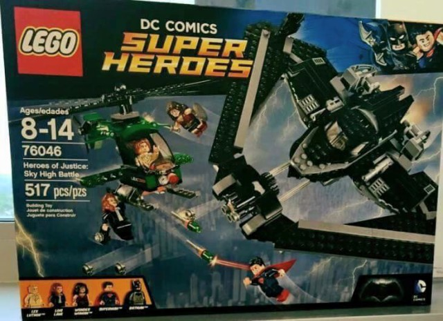 LEGO Batman vs Superman Heroes of Justice Sky High Battle 76046 Set Revealed