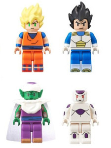 Dragon Ball Z Minifigures Figures Goku Vegeta