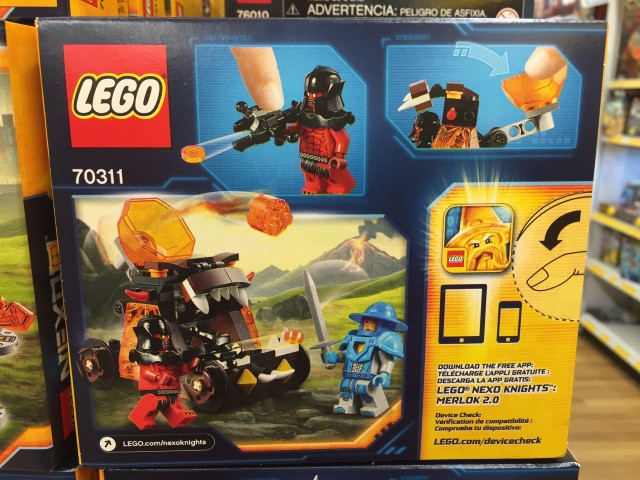Nexo Knights Chaos Catapult 70311 Box Back
