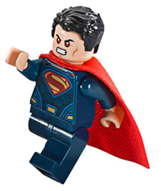 LEGO Clash of the Heroes Superman Minifigure with Red Eyes
