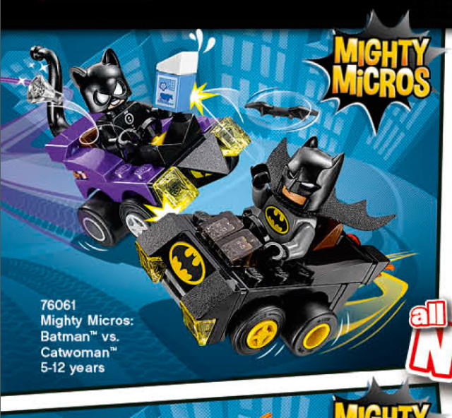 LEGO Mighty Micros Batman vs Catwoman 76061 Winter 2016 Set
