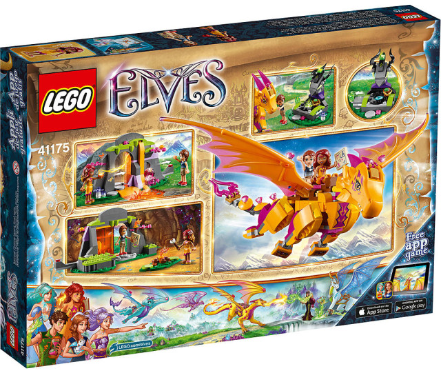 41175 LEGO Elves Fire Dragon's Lava Cave Box Back