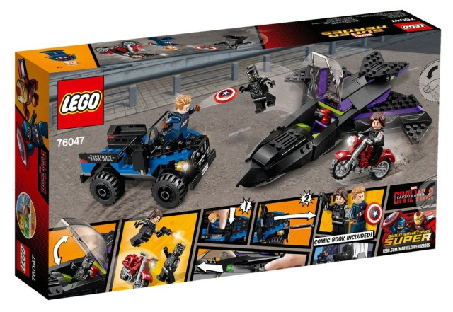 76047 LEGO Black Panther Pursuit Set Box Back
