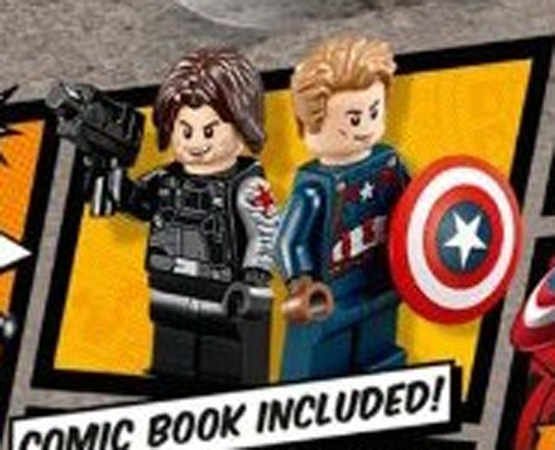 Civil War LEGO Captain America and Winter Soldier Minifigures