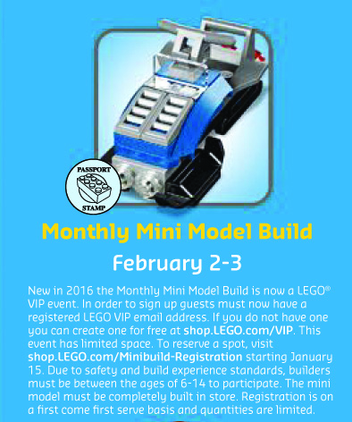 February 2016 Mini Monthly Model Build LEGO Snowmobile Set
