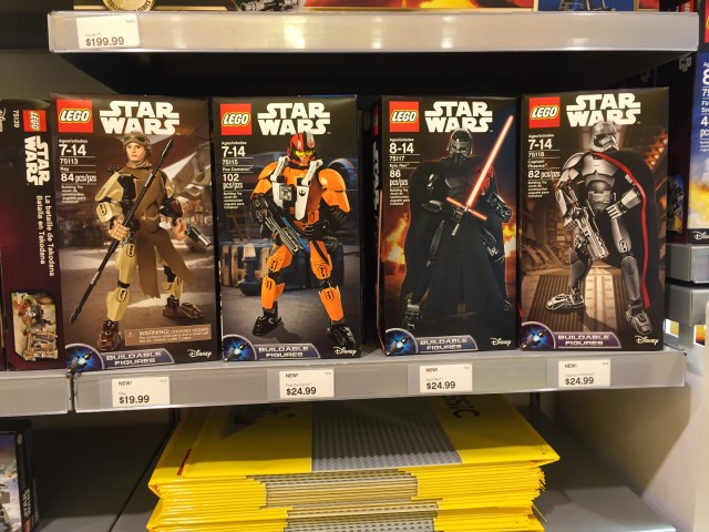 LEGO Force Awakens Buildable Figures Sets Packaged
