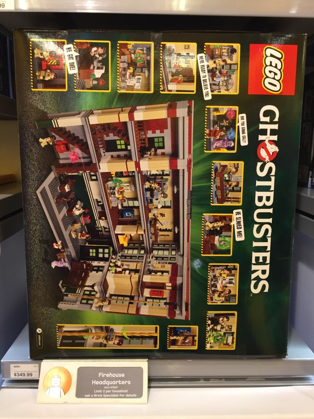 Box Back Ghostbusters Firehouse Headquarters LEGO Set