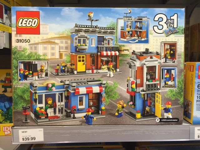 31050 LEGO Corner Deli Set Box Back