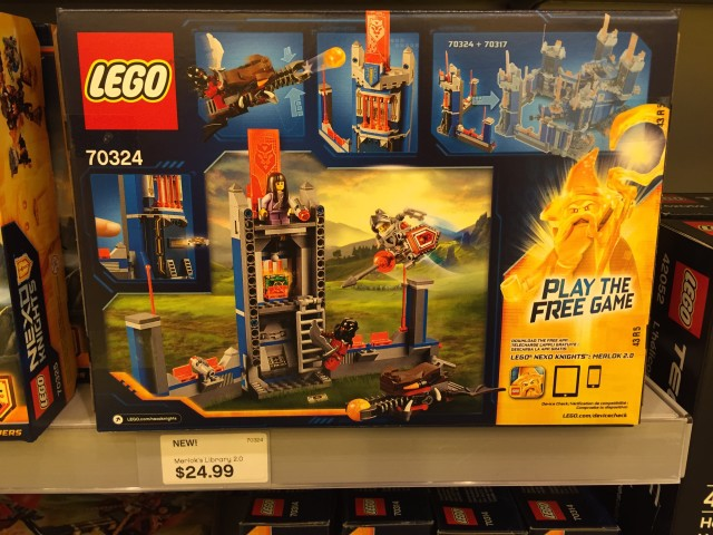70324 Merlok's Library 2.0 Box Back Nexo Knights