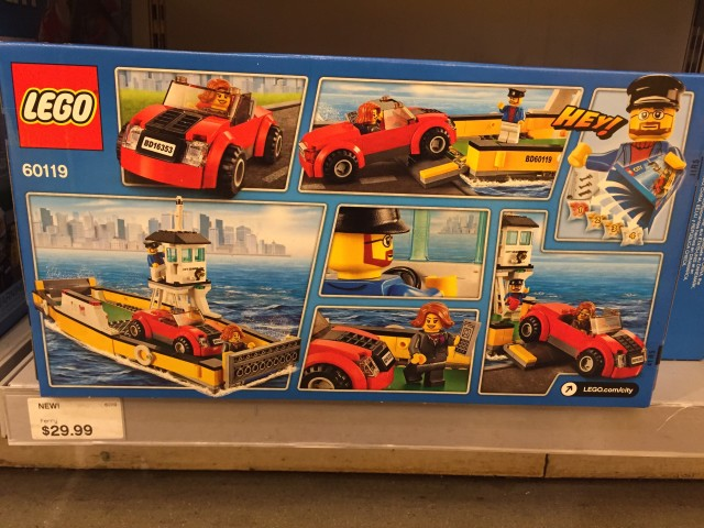 Box Back 60119 Ferry LEGO City Winter 2016 Set