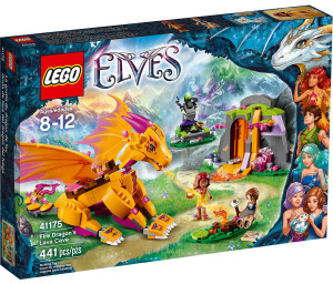 LEGO 41175 Fire Dragon's Lava Cave Box Elves Winter 2016 Set