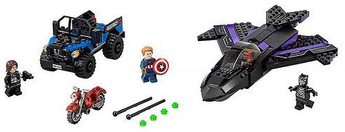 LEGO 76047 Black Panther Pursuit Set Captain America Civil War