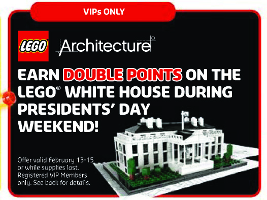 LEGO Architecture White House Double VIP Points Sale