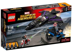 LEGO Captain America Ciivl War Black Panther Pursuit 76047 Box