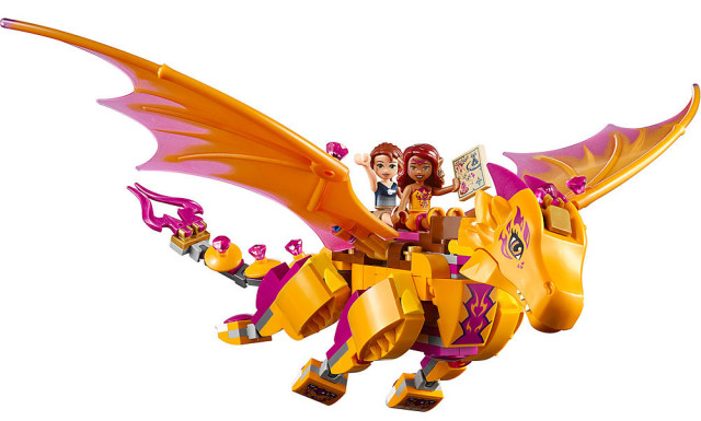 LEGO Elves Fire Dragon with Azari and Emily Dolls Riding It